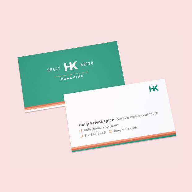 DesignGood Holly Krivo Coaching business card design