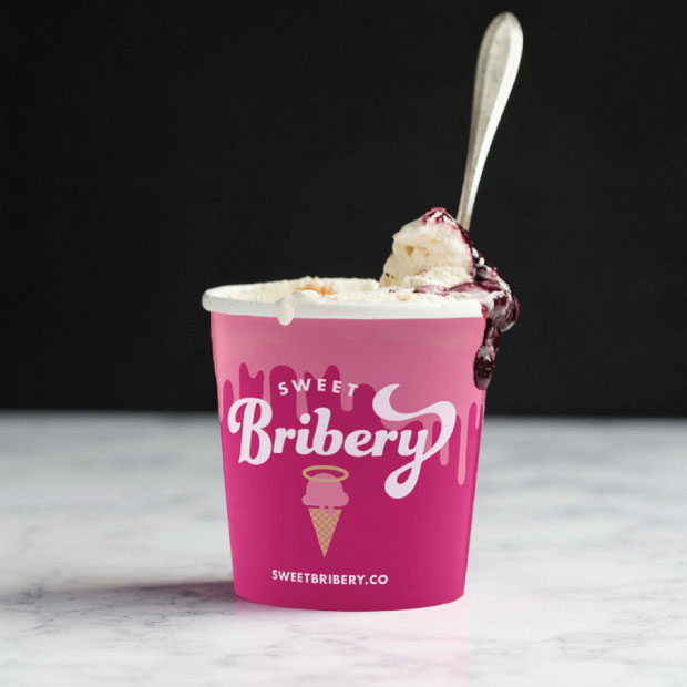 DesignGood Sweet Bribery ice cream half pint design