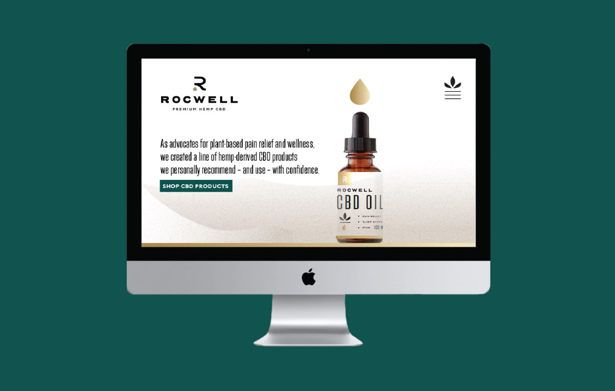 DesignGood Rocwell CBD custom WordPress eCommerce website