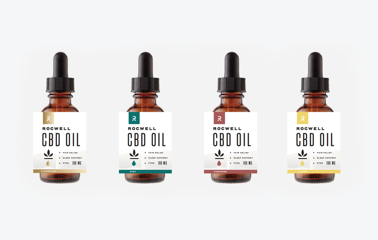 DesignGood Rocwell CBD custom packaging label design