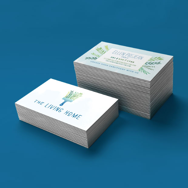 DesignGood The Living Home business card design
