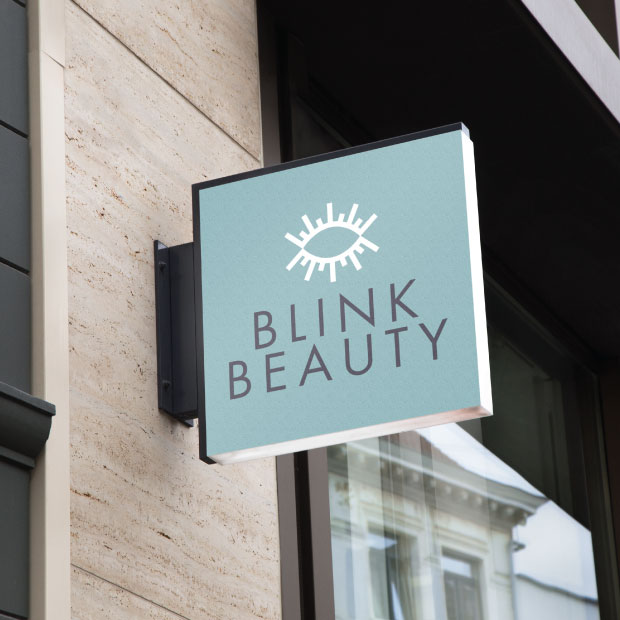 DesignGood Blink Beauty signage design
