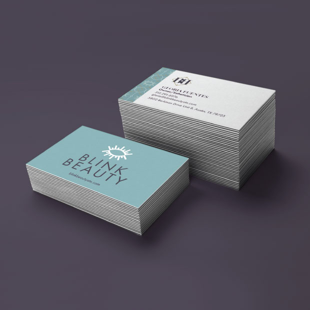 DesignGood Blink Beauty business card design