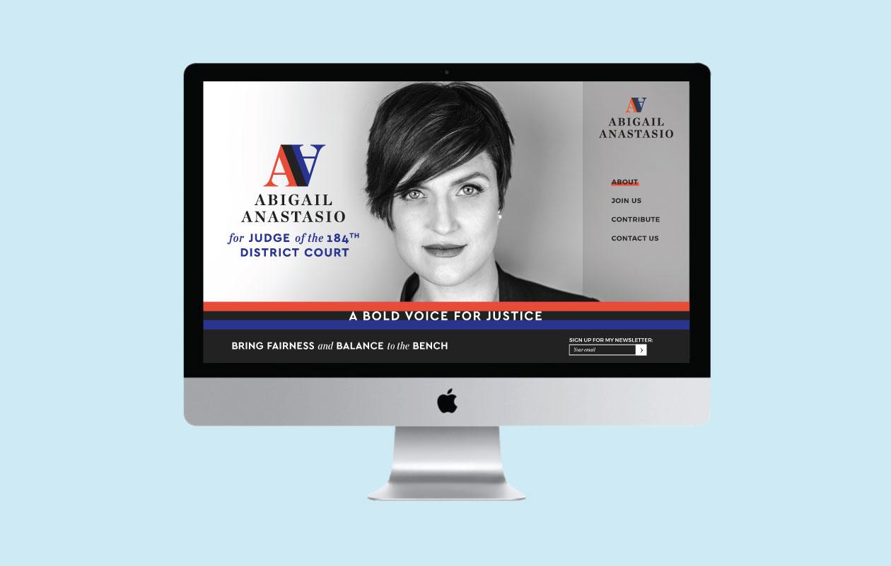 DesignGood Abigail Anastasio campaign website design