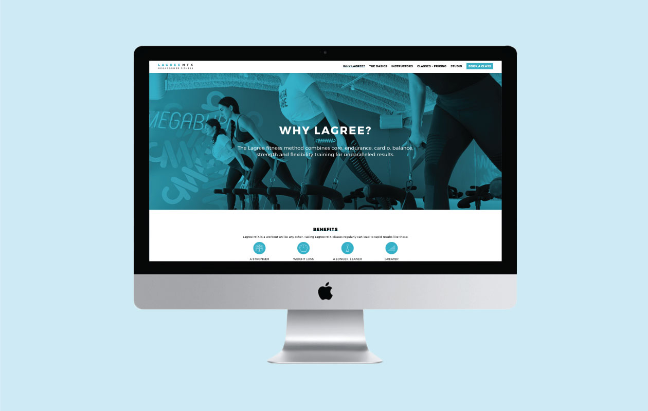 DesignGood Lagree Houston custom WordPress website development
