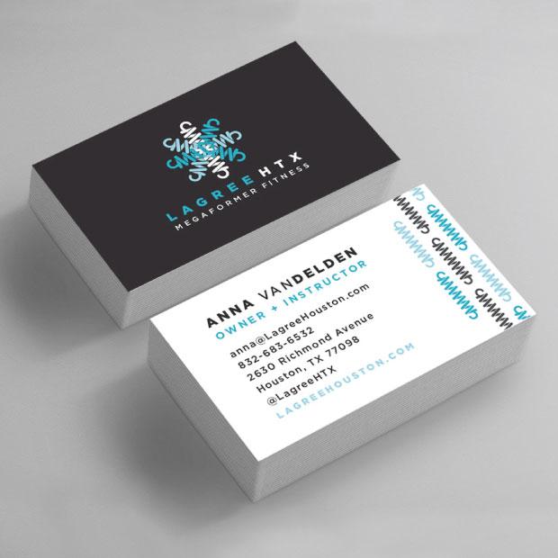 DesignGood Lagree Houston business card design