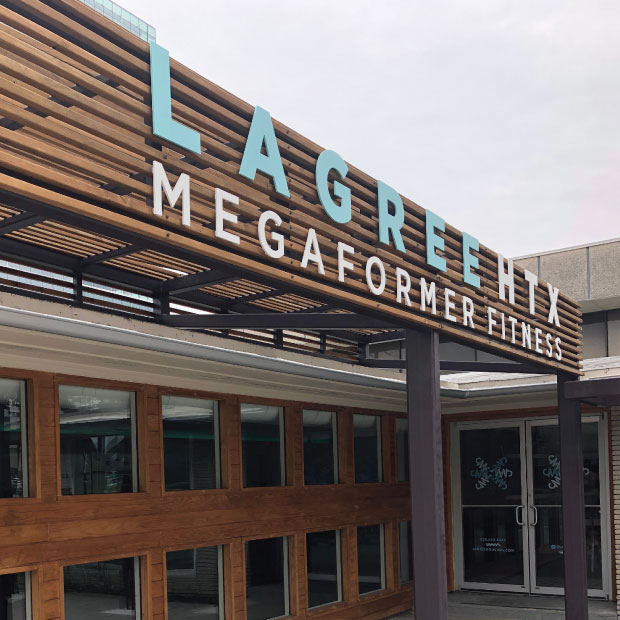 DesignGood Lagree Houston custom exterior signage design