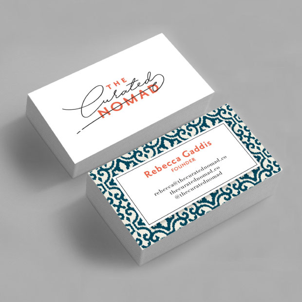 DesignGood The Curated Nomad business card design