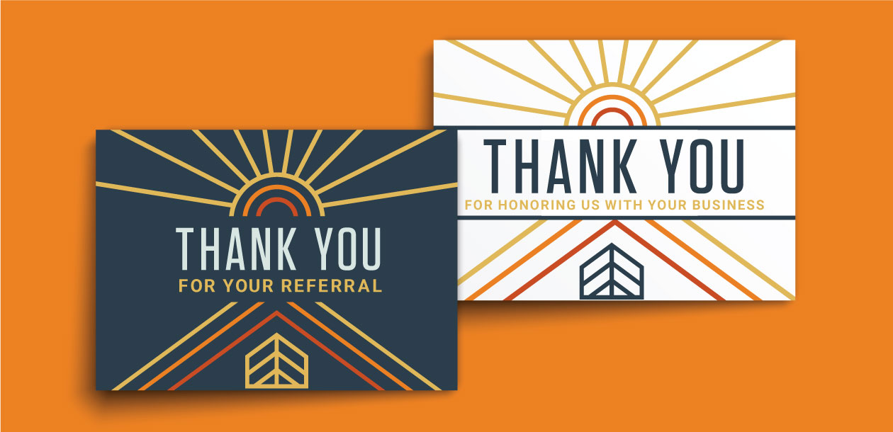 DesignGood South Austin Homes custom real estate thank you card design