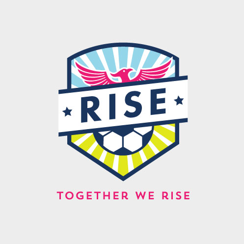 DesignGood logo for RISE Soccer Club