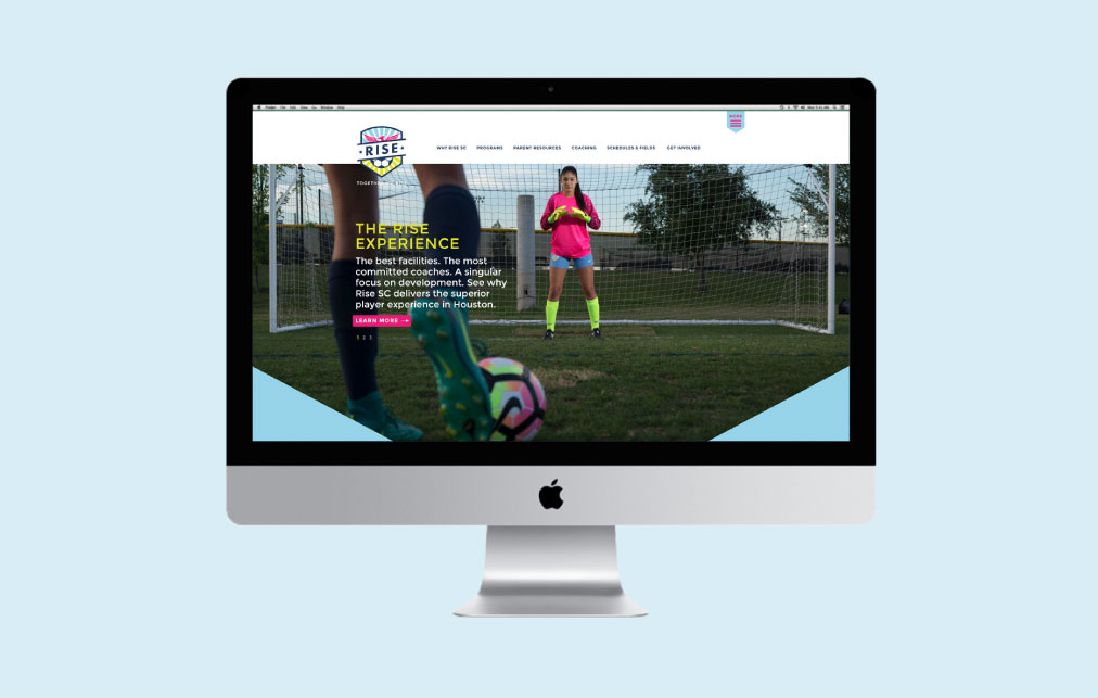 DesignGood custom WordPress web development for RISE Soccer Club