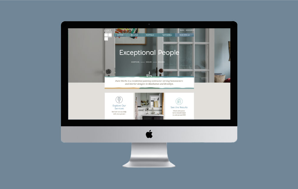 DesignGood web development for Paint Works New York