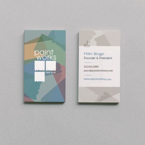 DesignGood business card design for Paint Works New York
