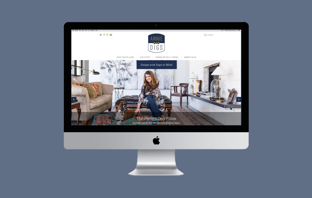 DesignGood Shopify website for Annie Digs