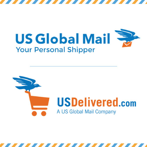 DesignGood logos for US Global Mail and USDelivered.com