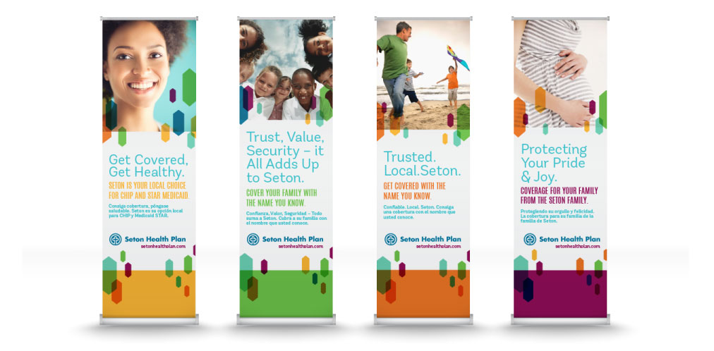 DesignGood printed banner designs for Seton Health Plan