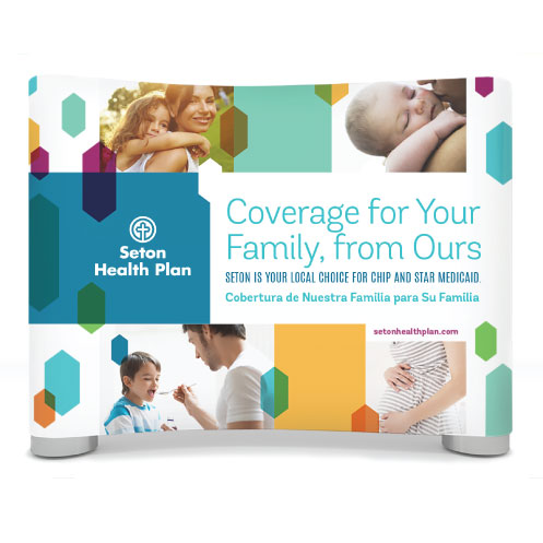 DesignGood graphic design for Seton Health Plan