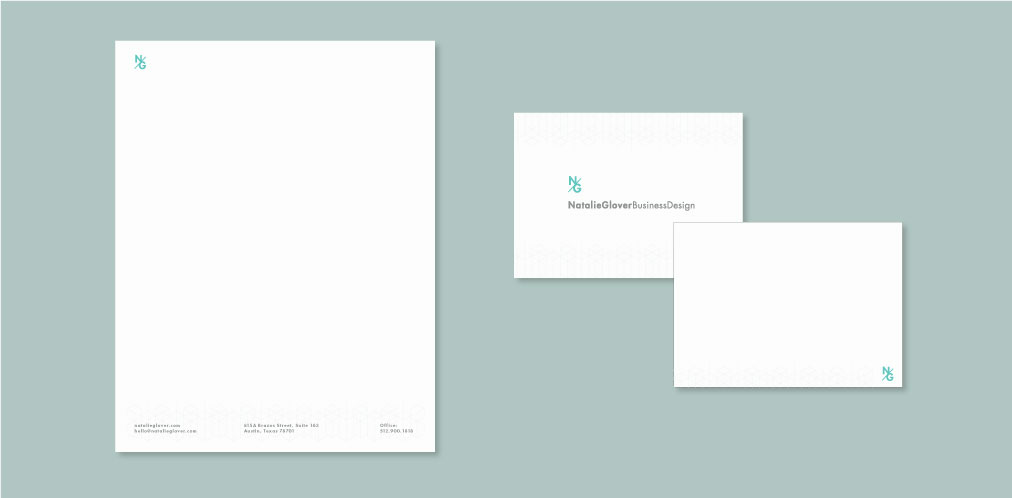 DesignGood letterhead design for Natalie Glover