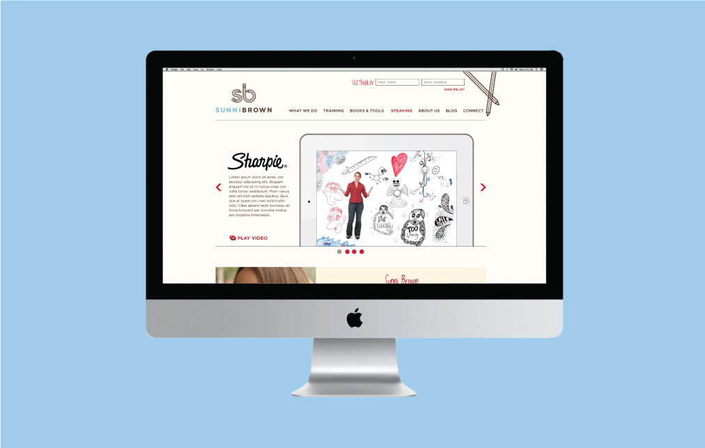 DesignGood web design for Sunni Brown