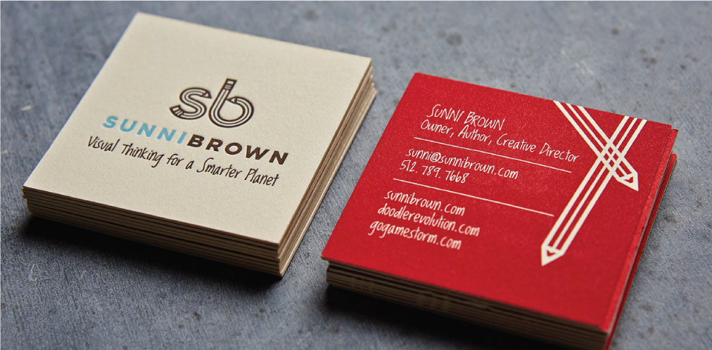 DesignGood business card design for Sunni Brown