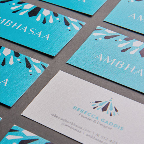 DesignGood business card design for Ambhasaa