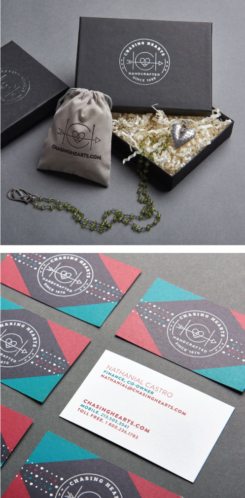 DesignGood business card designs for Chasing Hearts