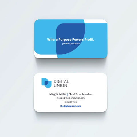 DesignGood business card design for Digital Union