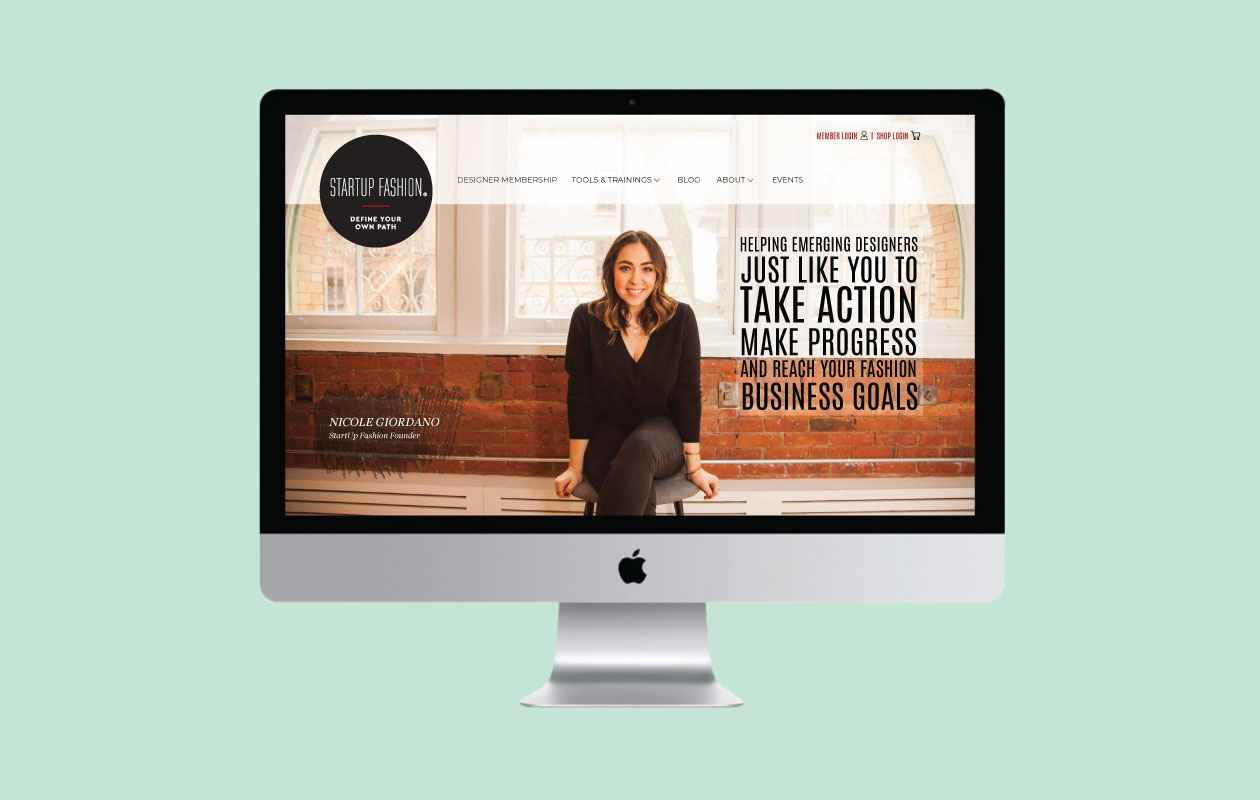 DesignGood web development for StartUp Fashion