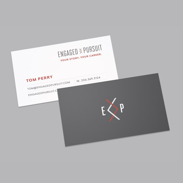 DesignGood business card design for Engaged Pursuit