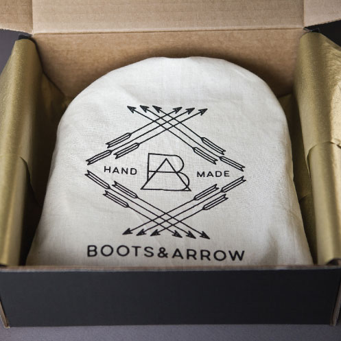 DesignGood packaging design for Boots & Arrow