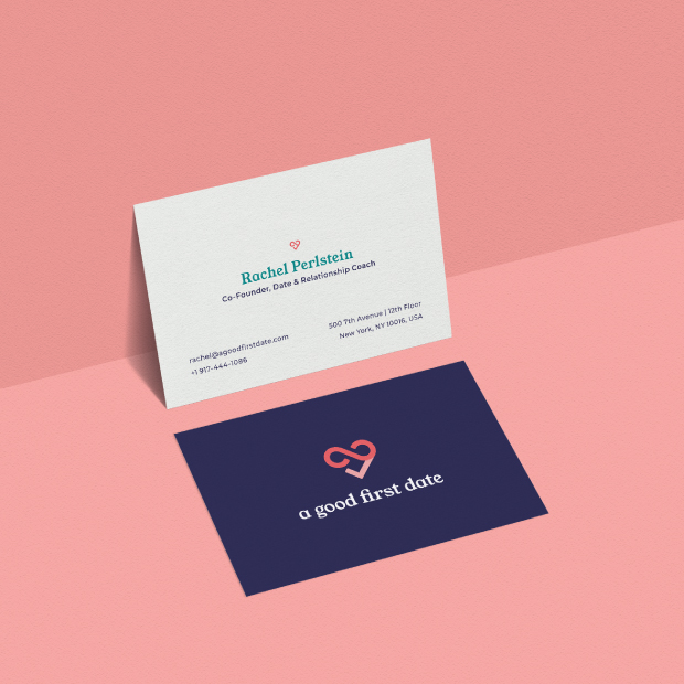 DesignGood A Good First Date business cards