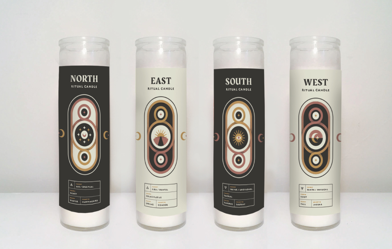 DesignGood Soul Alchemy graphics on candles