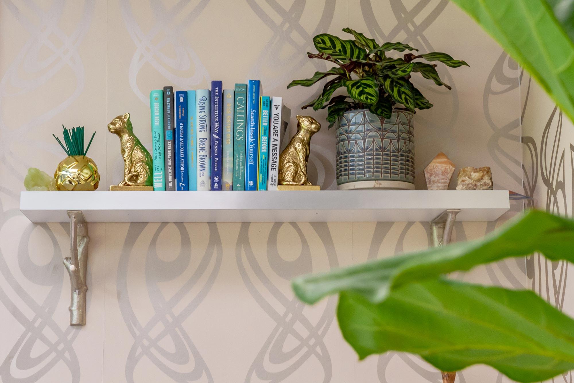 DesignGood HQ Kristin's book shelf