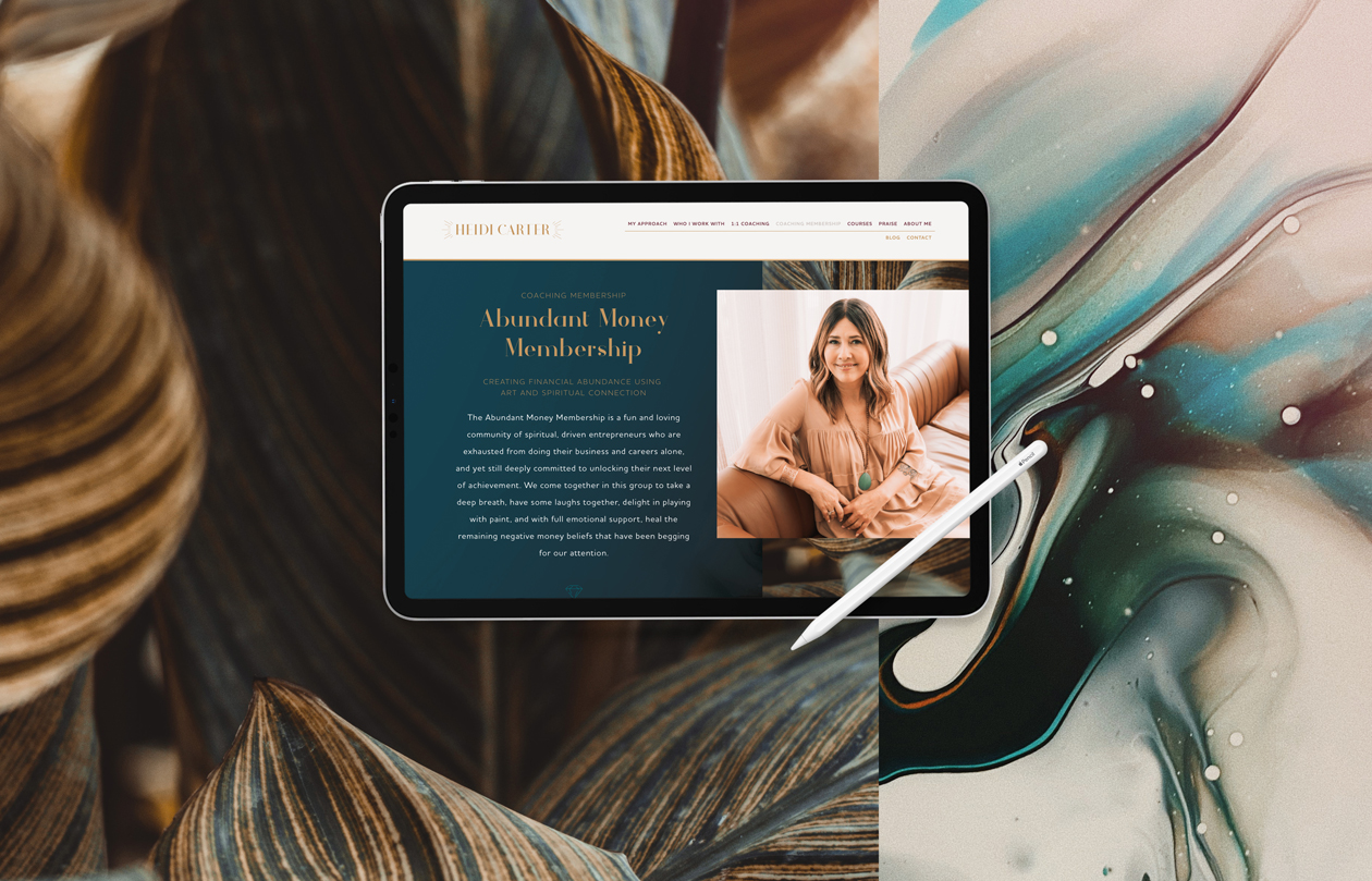 Heidi-Carter-Website-on-tablet