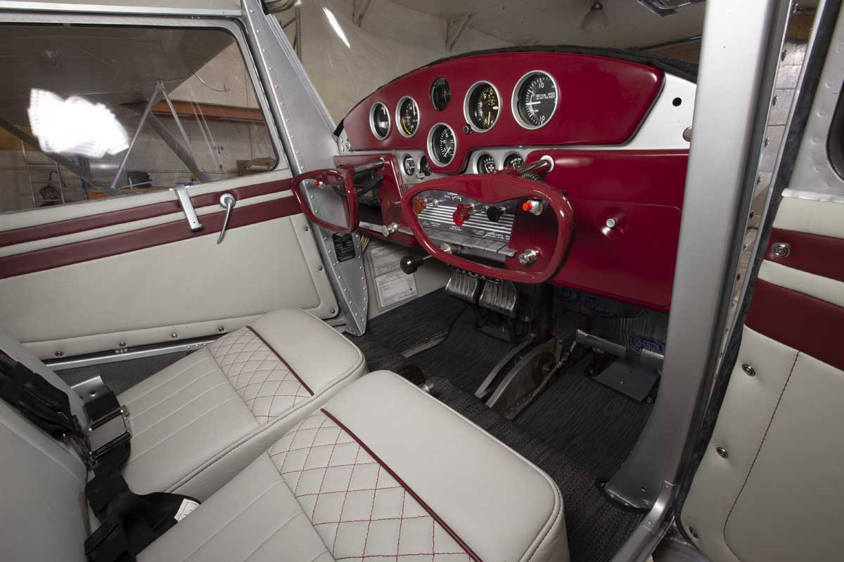 The cockpit of a Cessna airplane