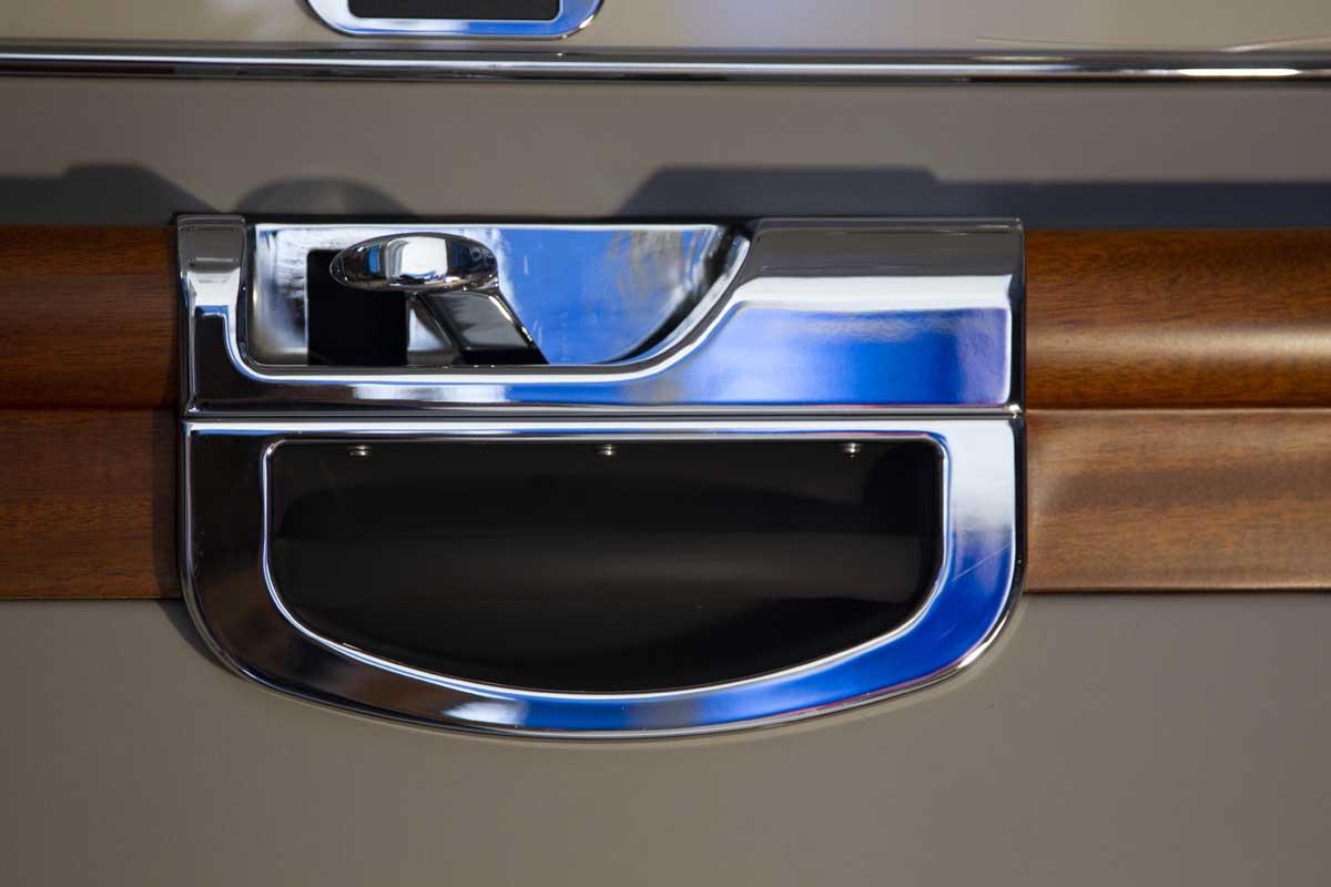 Custom door latch handle