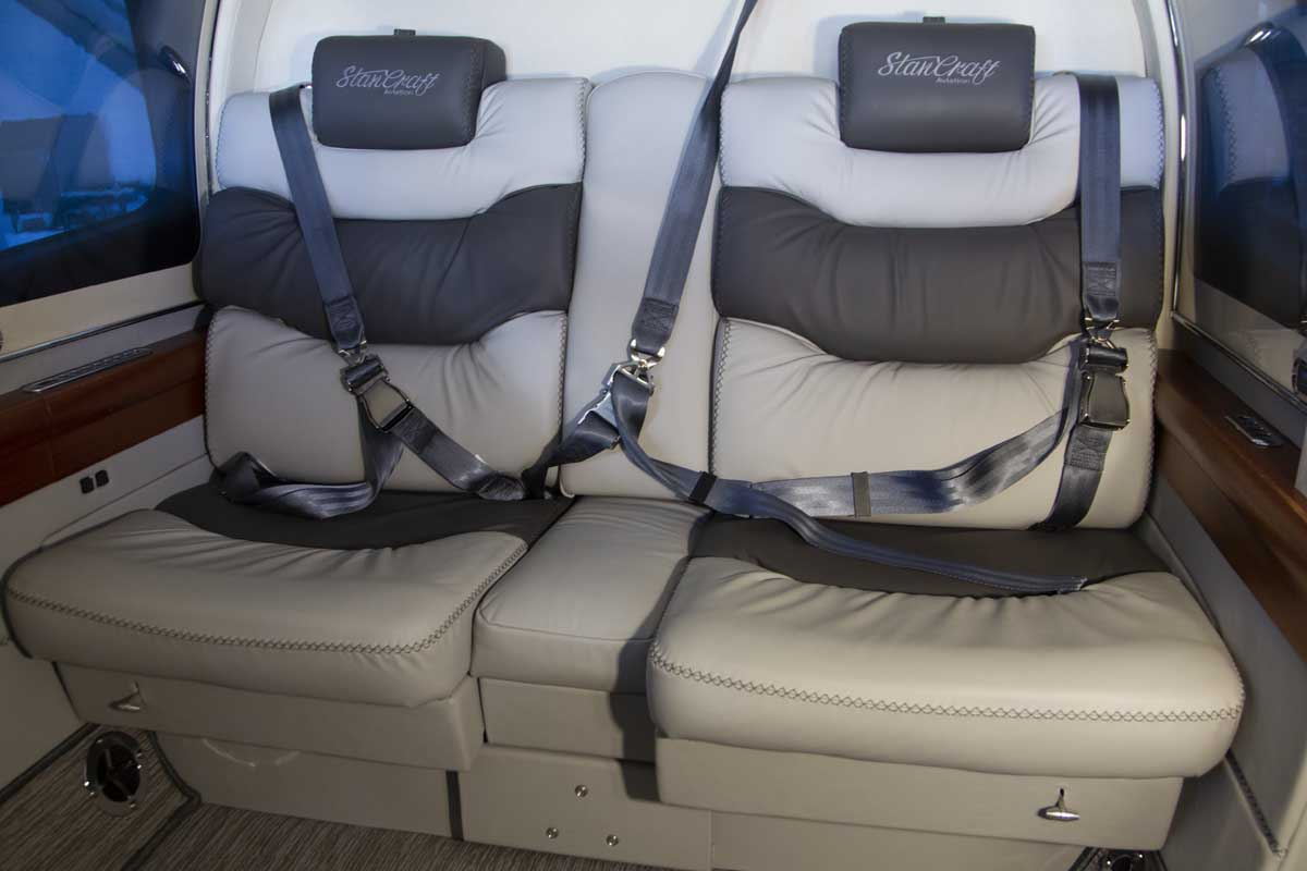Custom helicopter cabin seating
