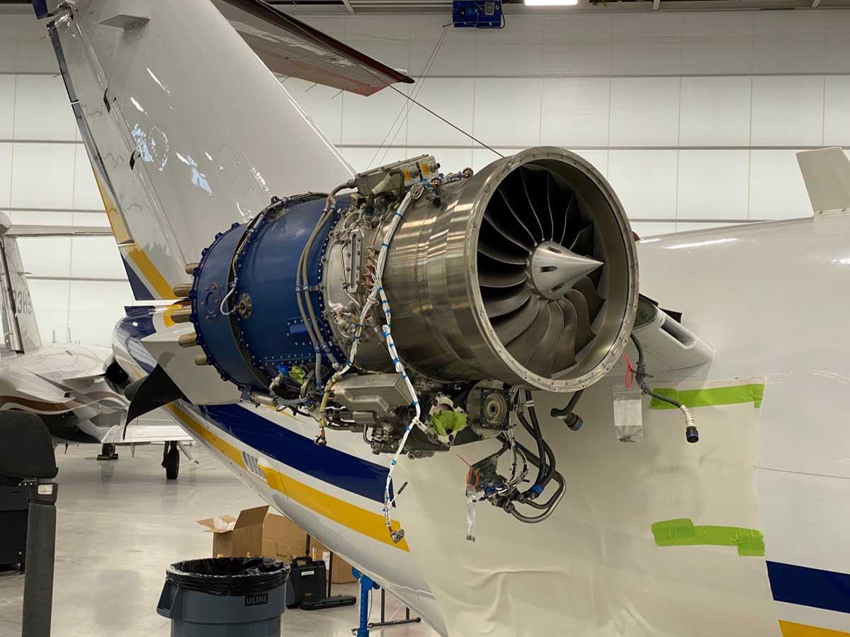 Private jet engine