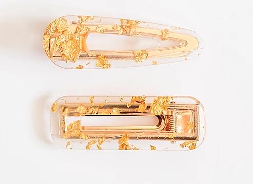 Clip Set Acetate Resin - Gold Foil