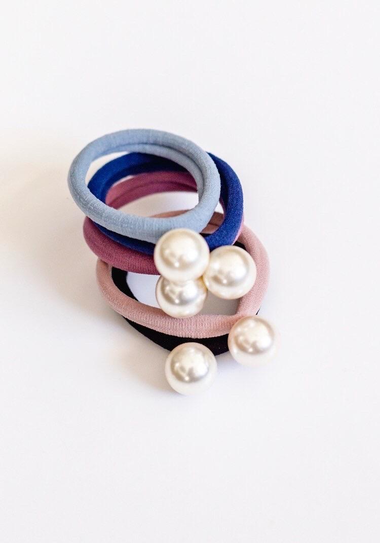 Pearl Hairtie 5 Set