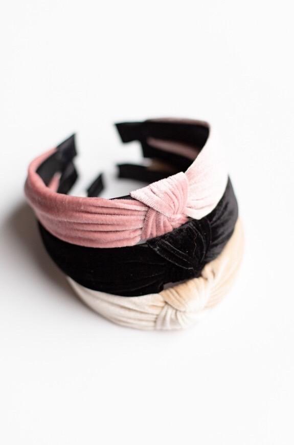 Velvet Topknot Headband