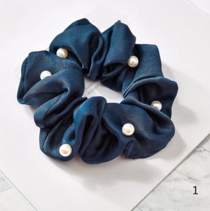 Satin Pearl Scrunchies