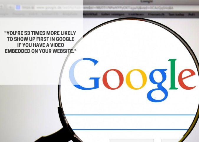 首次在谷歌与视频