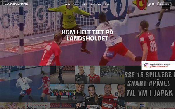 Håndbolddamerne.dk hjemmeside