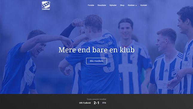 ORI Fodbold hjemmeside