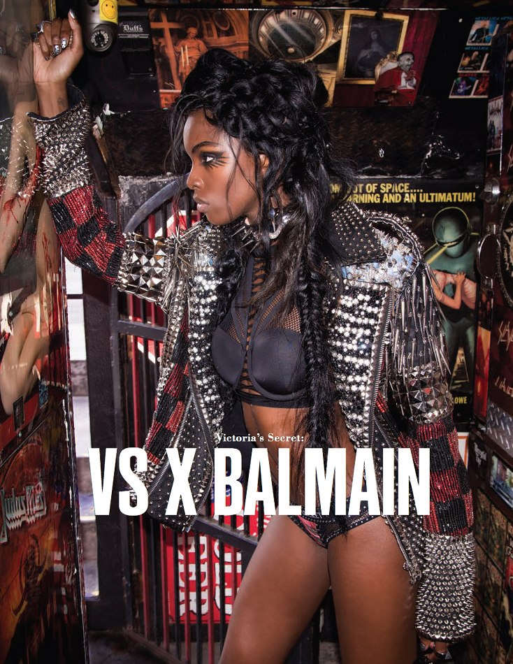 7acac7f1 Leomie for VS x BALMAIN collaboration in 10 Magazine. Photography by Derek  Rodgers