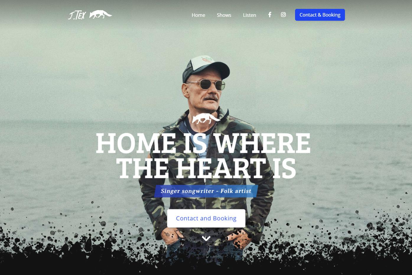 J.Tex hjemmeside