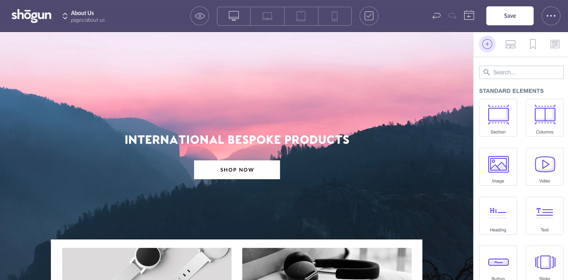 Build Beautiful eCommerce Pages.
