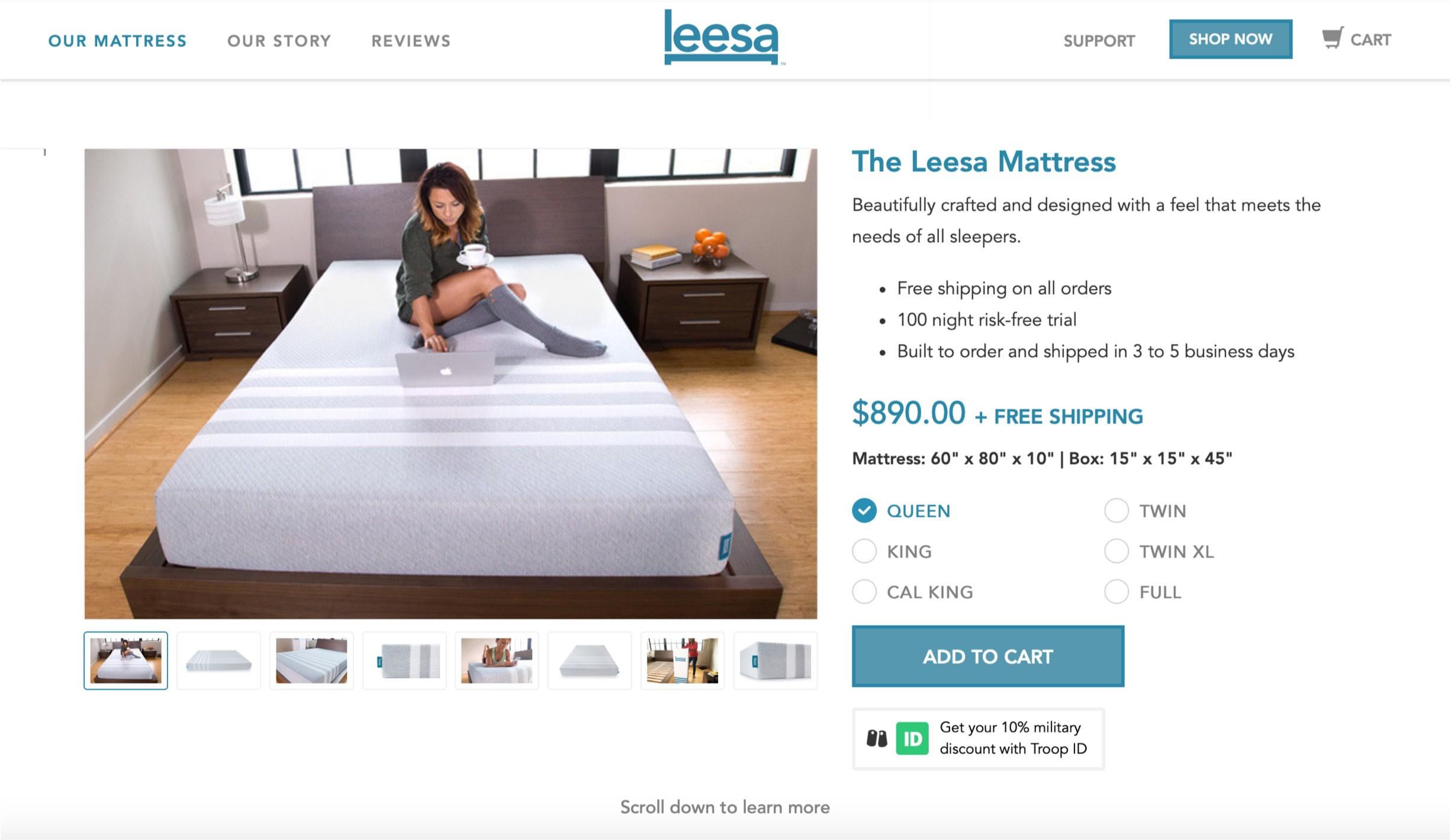 Lessa Mattress Before