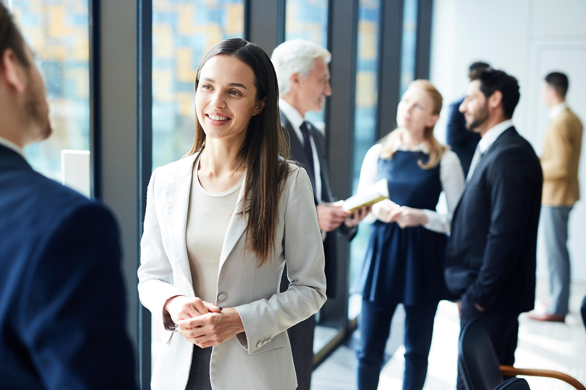 Gruppe von Personen in Business Umgebung